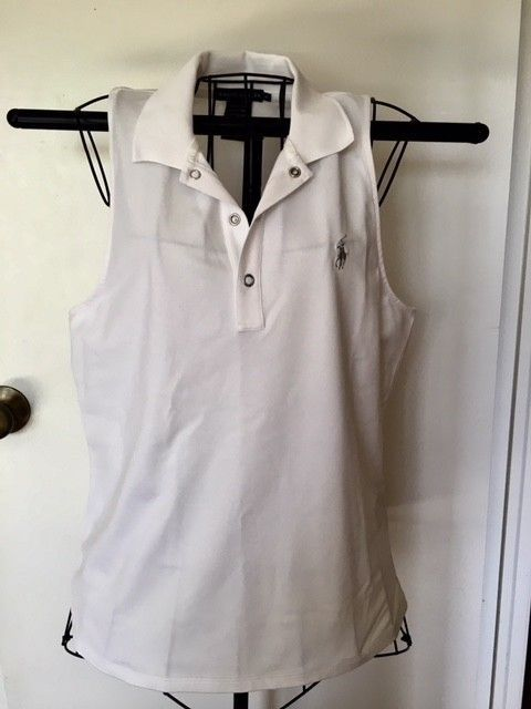 9a21a9b597301 Polo Ralph Lauren Womens Polo Sleeveless Stretch Mesh white XL  fashion   clothing  shoes  accessories  womensclothing  tops (ebay link)