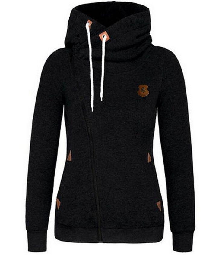 New Fashion Women Hoody 8 Colors Long Sleeve Slim Fit Jumper Hoodies Coat Sweatshirt with hooded LN835E