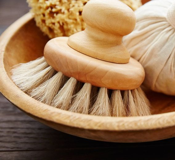 Dry facial brushes are very effective at exfoliation, increasing circulation, and draining away lymph congestion.