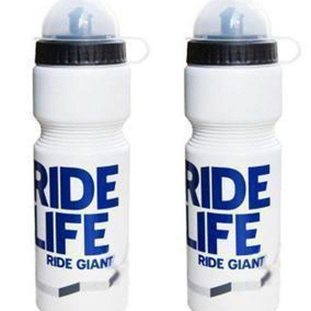 water bottles with lid sports biking white and blue bicycle bottle