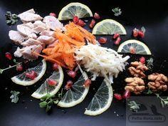 Salata din piept de pui cu morcov,iaurt si telina