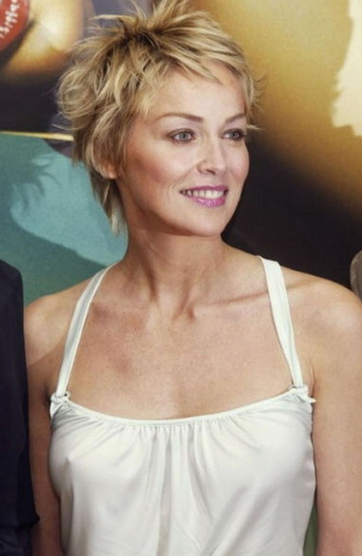 Sharon stone spiky short haircut for older women over 50 getty images - Awesome Sharon Stone Hairstyles 2017 For Interior Designing Hairstyle Ideas With Sharon Stone Hairstyles 2017
