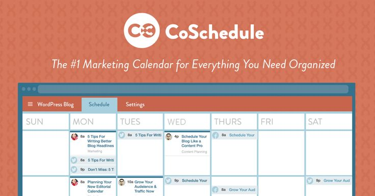 CoSchedule - sounds like a really great option for a one-stop way to organize blog & social media posts. Starts at $15/month, after 2-week free trial.