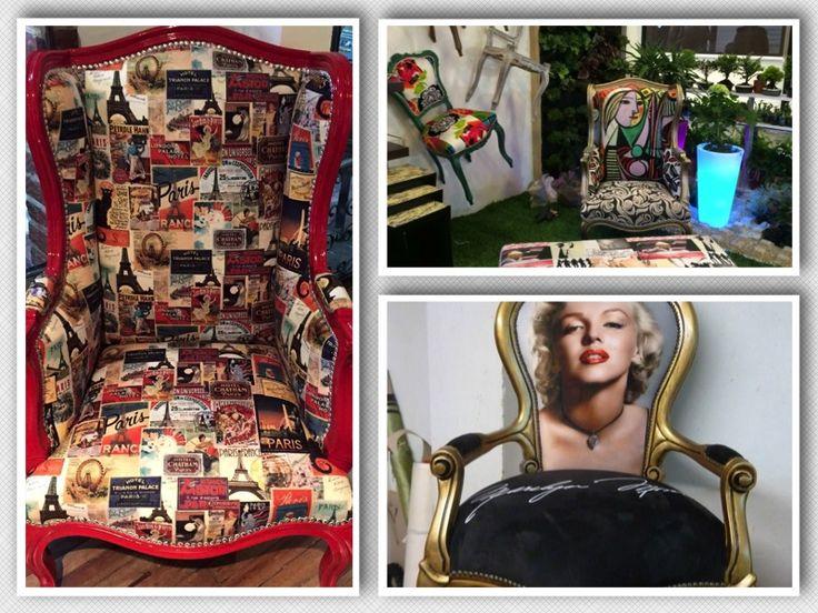 LUISA VASQUEZ ART / Home concept store. Renovamos, tapizamos e intervenimos tus sillas antiguas, hacemos todo tipo de muebles en madera. Todo para decoraciones.