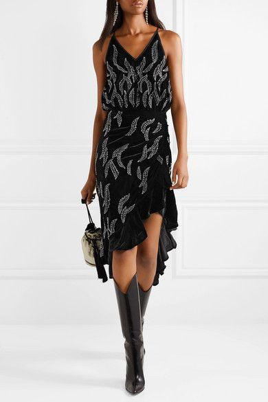 42cabf5b01 Dodo Bar Or - Asymmetric embellished velvet midi dress