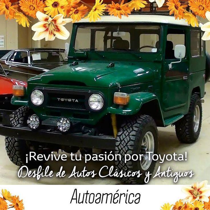 #DesfileDeAutosClásicosyAntiguos, el mejor día para disfrutar la pasión que sientes por los carros. ¡Diviértete viendo los modelos #Toyota de toda la vida! #FeriaDeLasFlores