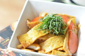 odeng bokkeum (fish cake stir fry) also known as eomuk bokkeum in korean, is a great and easy side dish that can be had in minutes. (Recipe with pictures)