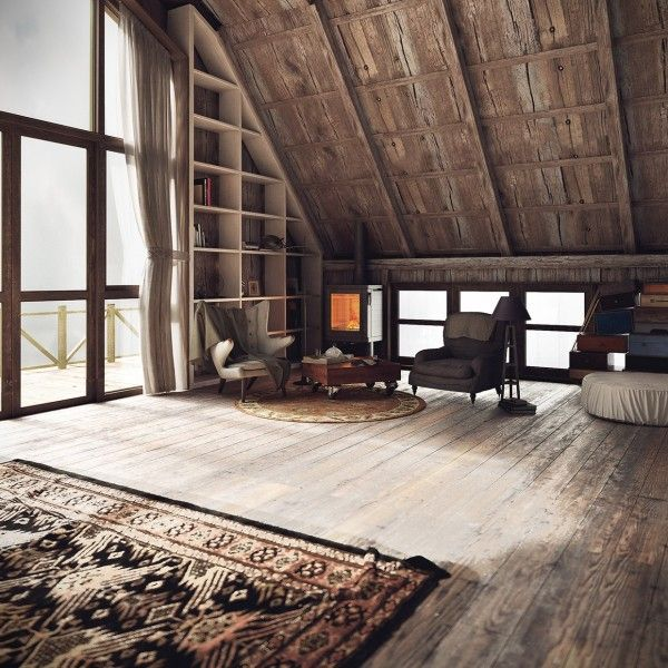 "homedesigning: ""(via Three Homes with a Contemporary Twist on Rustic Design) """