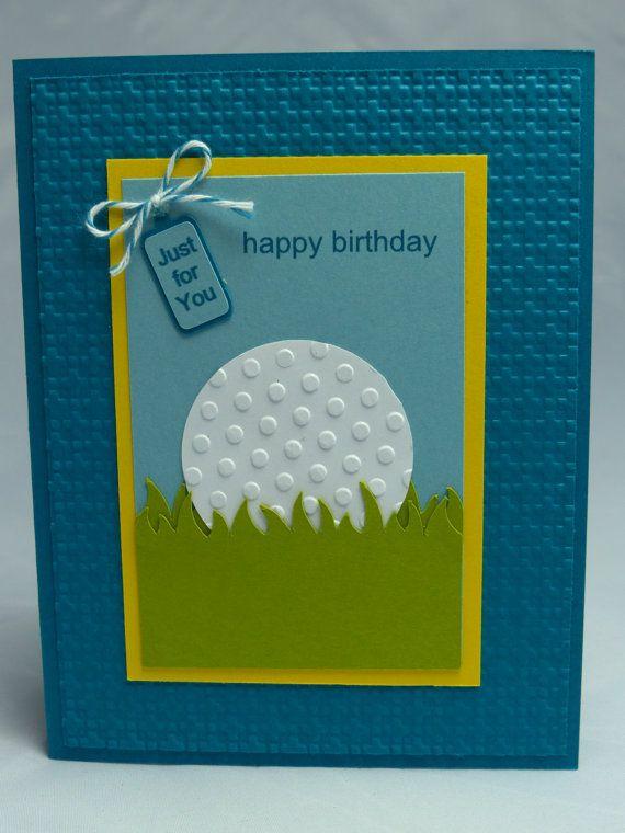 Stampin Up Handmade Greeting Card: Happy Birthday Card, Golf, Golfing, Golfer, Golf Club, Card for Man, Men's Birthday Women's Birthday