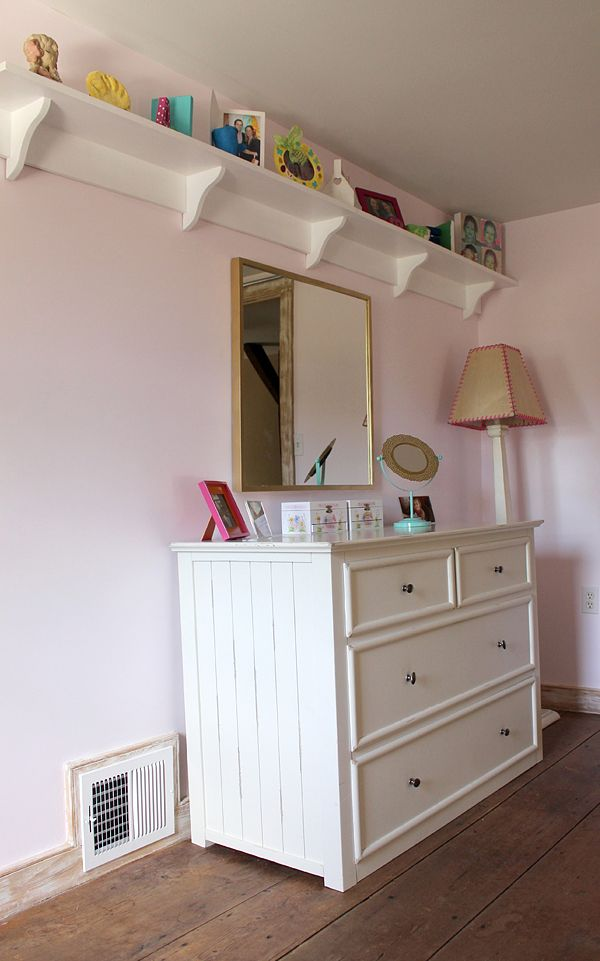 3 diy projects for a little girls 39 bedroom makeover diy - Bedroom wall shelves decorating ideas ...
