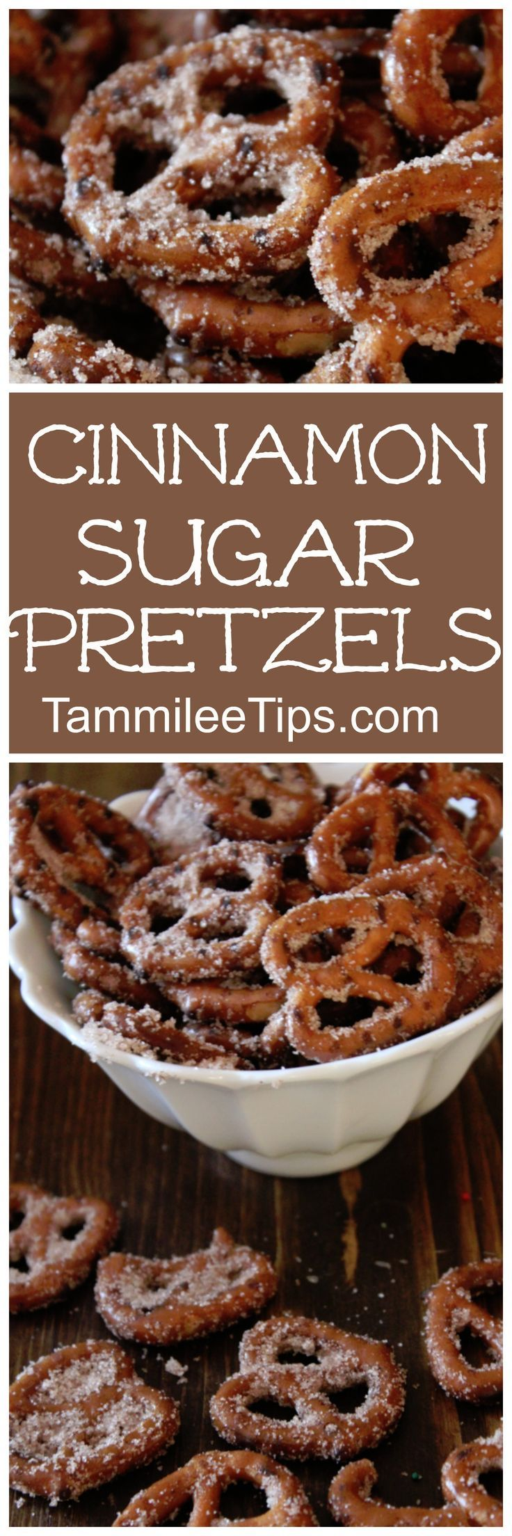 Super easy Cinnamon Sugar Pretzels! Perfect for DIY Homemade holiday gifts! This sweet dessert recipe is a family favorite!