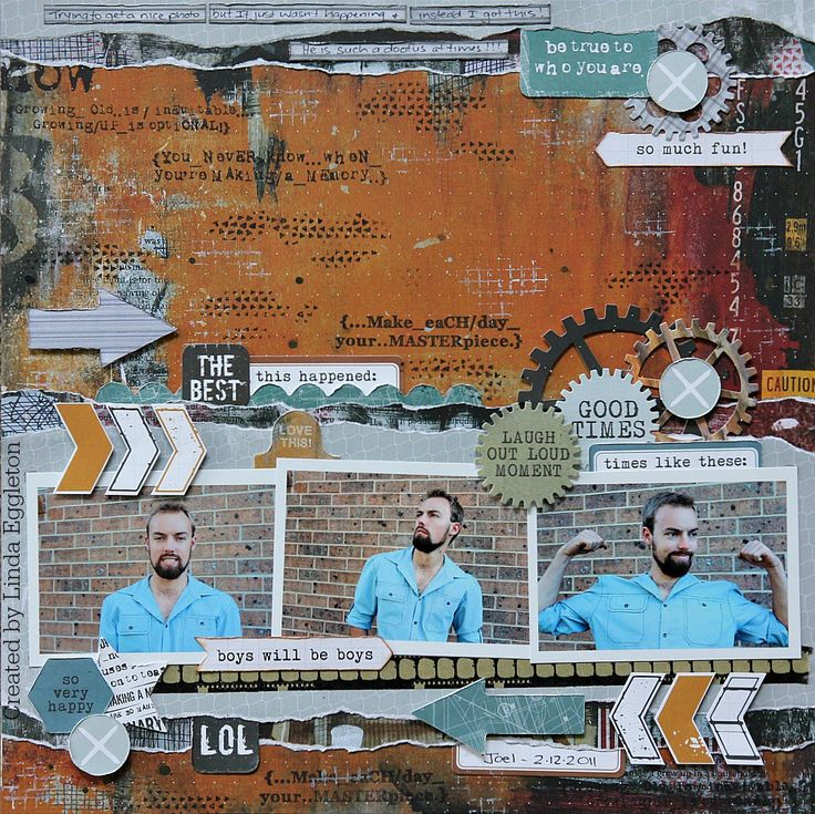 """You Never Know When You're Making a Memory"" Layout by Cathy Cafun Kaiser Product: Scrap Yard – Paper – P1824 Copper, P1825 Garage, P1828 Warehouse, P1829 Cut and Paste, P1832 Rafters, CT827…"