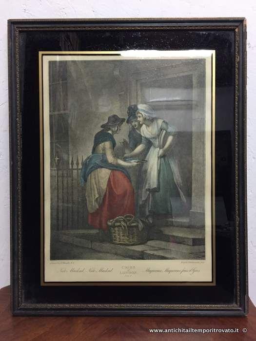 Oggettistica d`epoca - Stampe e dipinti Antica acquatinata inglese - Antica stampa inglese di Wheatley Immagine n°1