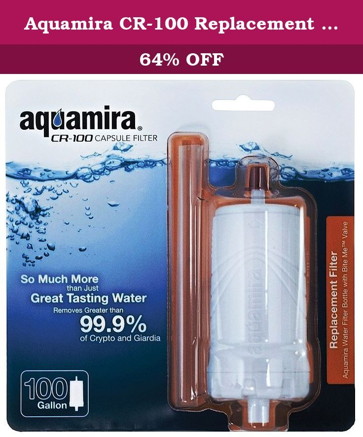 Aquamira CR-100 Replacement Capsule Filter. The Aquamira CR-100 Capsule Filter is a replacement water filter for the Aquamira CR-100 Water Filter Bottle. This filter removes chlorine, odors, bad tastes and over 99.9% of Cryptosporidium and Giardia. It will filter up to 100 gallons. The Aquamira CR-100 Capsule Filter features an activated coconut shell carbon water filter, which reduces organic contaminants and waterborne chemicals. Easy to install, the newly designed Aquamira CR-100…