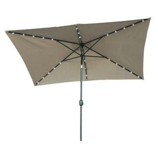 Shop for Trademark Innovations Rectangular Solar Powered LED Lighted Patio Umbrella (10' x 6.5'). Get free delivery at Overstock.com - Your Online Garden