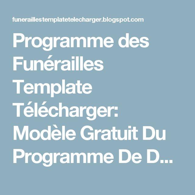 programme des fun u00e9railles template t u00e9l u00e9charger  mod u00e8le gratuit du programme de d u00e9c u00e8s pour