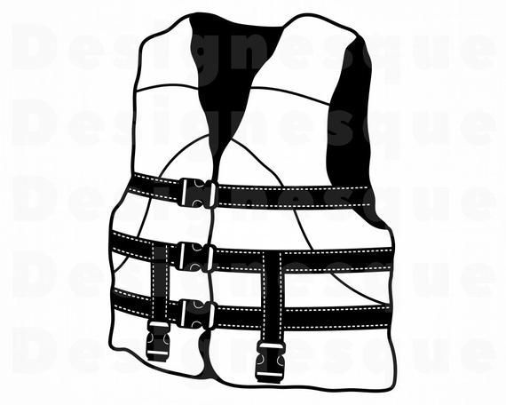 Life Jacket Svg Life Jacket Clipart Life Jacket Files For Etsy In 2021 Svg Clip Art Life Jacket