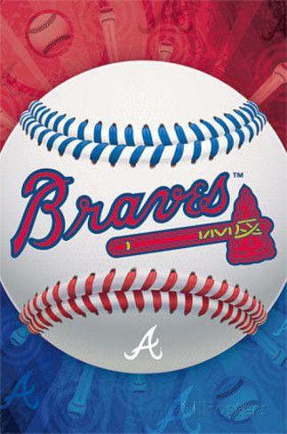 Atlanta Braves Logo Baseball Poster Posters at AllPosters.com