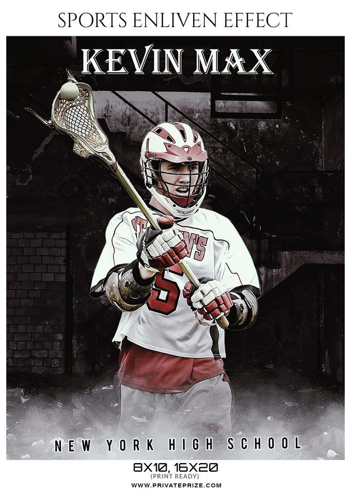 Kevin Max - Lacrosse Sports Enliven Effects Photography Template