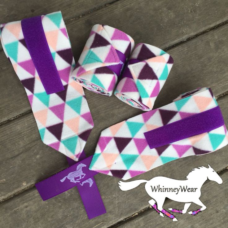 Pastel Geometric Polo Wraps by WhinneyWear