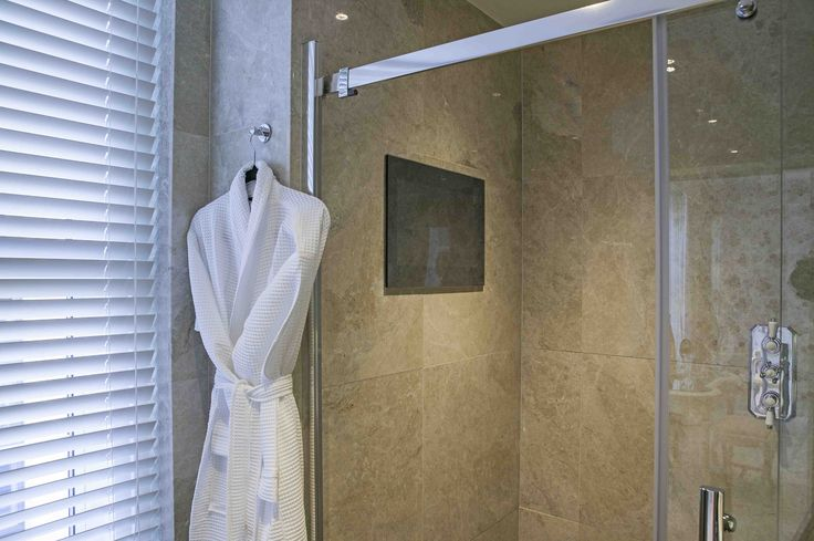 En-suite with TV Incorporated within Shower Enclosure | JHR Interiors