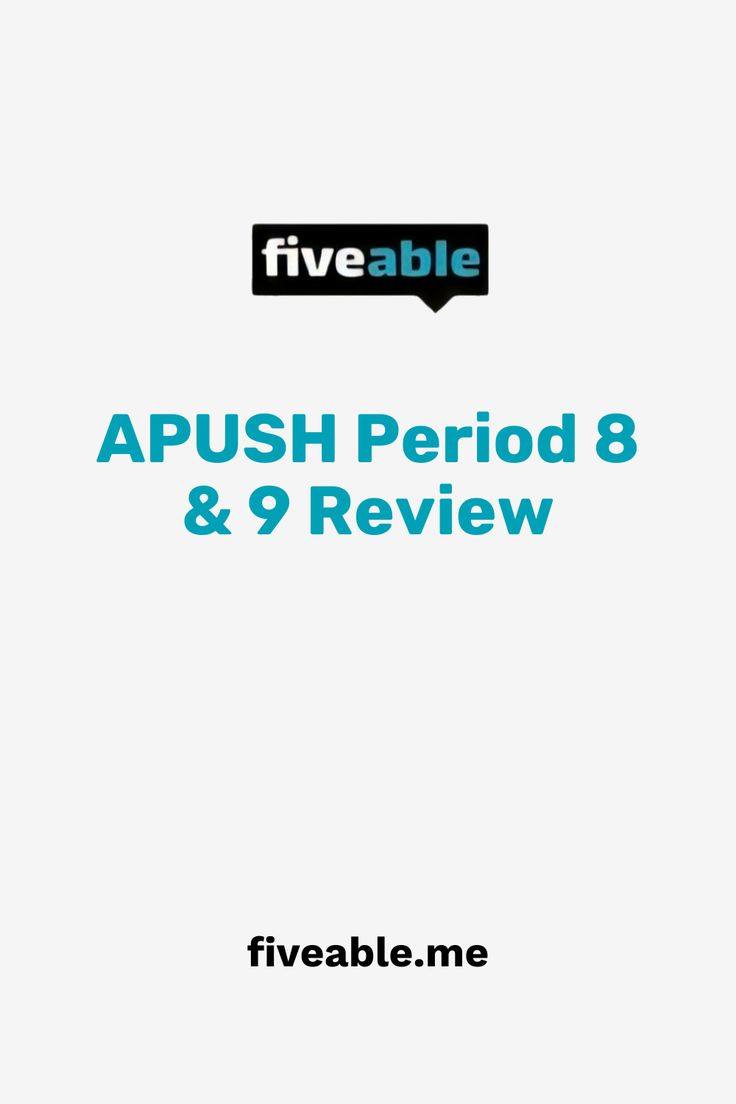 Apush Period 8 9 Review Ap Us History History Us History