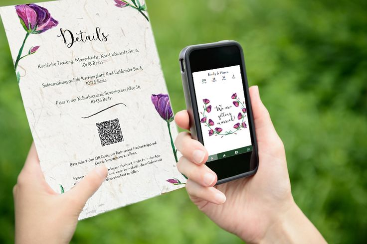 Your guests conveniently scan the QR Code in your invitation to open the app on their smartphone!
