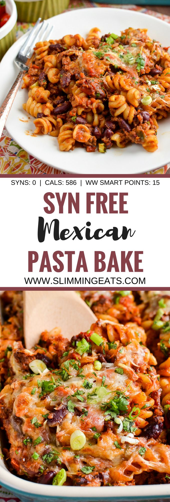 Slimming Eats Syn Free Mexican Pasta Bake - gluten free, vegetarian, Slimming World and Weight Watcher friendly http://www.4myprosperity.com/the-2-week-diet-program/