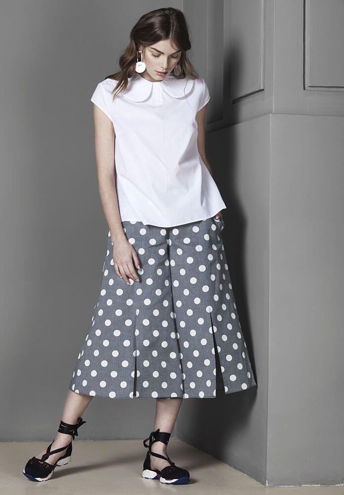 White cut collar top #white, #minimalism, #blouse, #fashion