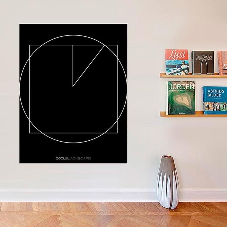 La #cuadratura del #circulo da un estilo #tecnico y #geometrico a esta #pizarra / #Squaring the #circle gives a #technic and #geometric #style to this #board