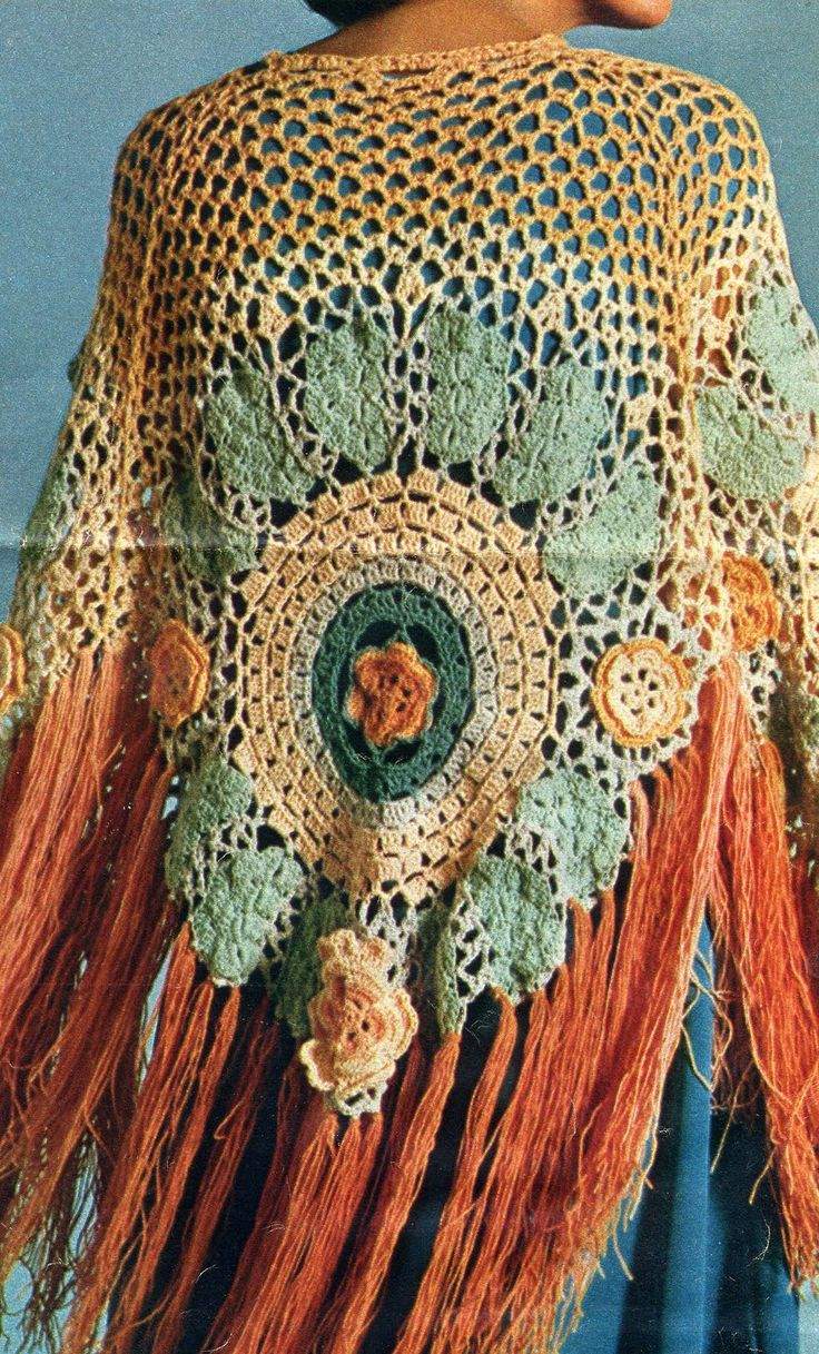 American Hippie Bohemian Style ~ Shawl! Love this.... gotta try to find a pattern!