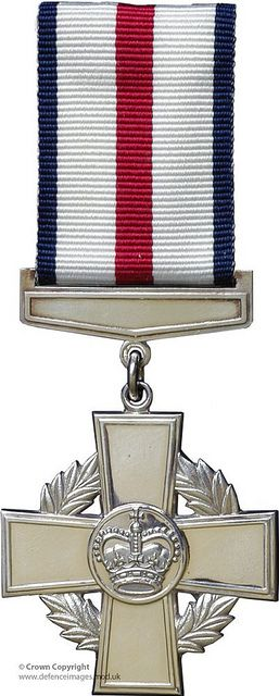 Conspicuous Gallantry Cross (CGC). Awarded to all ranks of the RN, RM, Army, and RAF in recognition of acts of conspicuous gallantry during active operations against the enemy.