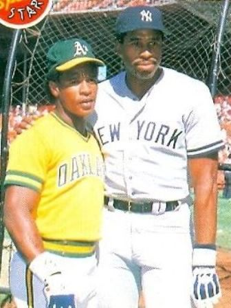 Rickey Henderson and Dave Winfield (1985).