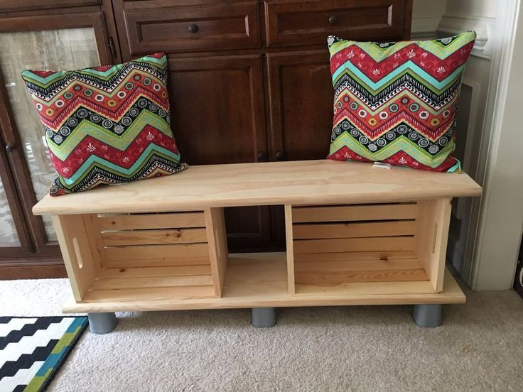 Do THIS to any Michaels crates to get extra seating in just 60 seconds—and it's super cute!