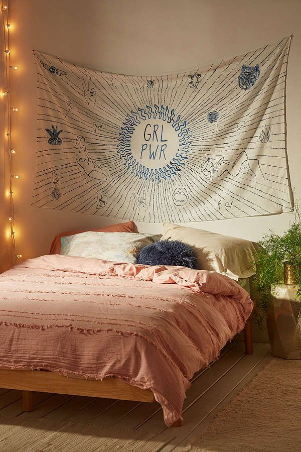 GRL PWR Illustrated Tapestry for Urban Outfitters Apartment