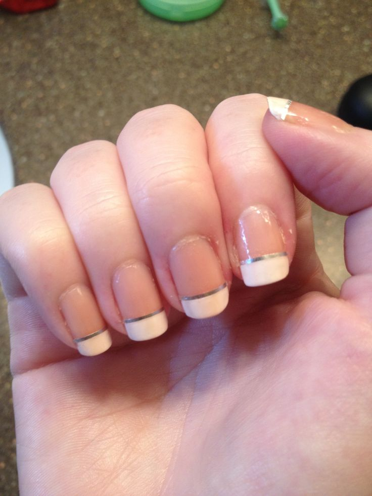How to paint french nails with tape