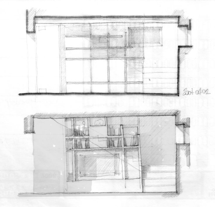 interior design section drawings - country house refurbishment - coolstoodio