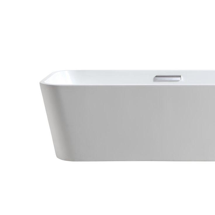 Helstøpt badekar. Størrelse: 181x75 x56 cm.