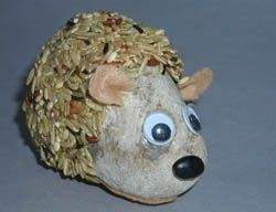 Rock Hedghog / Hamster: SUPPLIES-  Opaque Paint Markers, Brown felt, Rock (body), A dried Black bean (nose), Wild Rice (spikes/hair) filled to the top of a small bowl that your rock fit's into, Quarter (to trace some ears), Googly Eyes, Glue, Newspaper to protect your work surface, Masking tape, Paper clip (keep ear in place), Scissors, Pencil