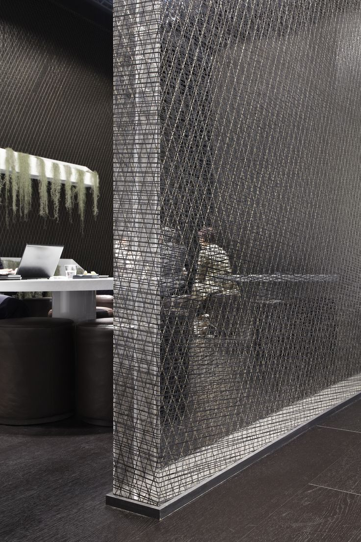 The Wall of AIR with I-MESH Lightness and Durability work perfectly together @Natuzzi Italian furniture company Booth during Salone del Mobile 2013 visit www.i-mesh.eu
