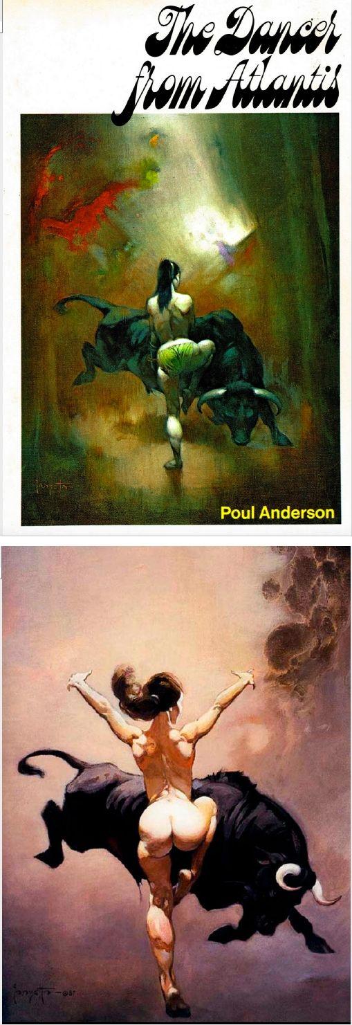 FRANK FRAZETTA - The Dancer from Atlantis - Poul Anderson - 1971 Nelson Doubleday / SFBC - cover by isfdb - print by frankfrazetta.net
