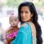 Padma Lakshmi from Bravo's Top Chef with daughter, Krishna