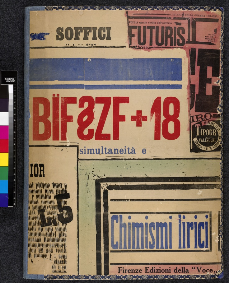 Cover of BÏF§ZF+18 by Ardengo Soffici, 1915
