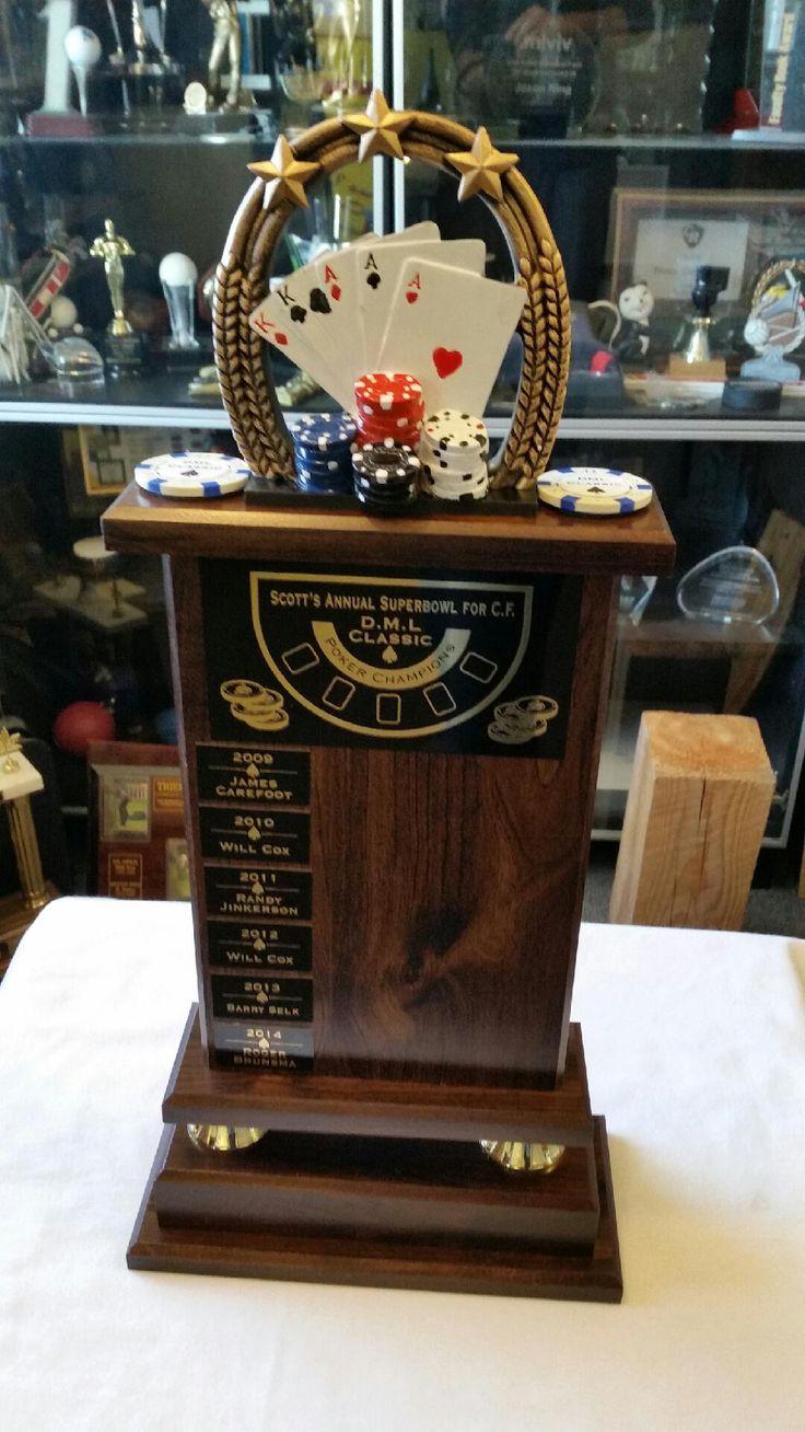 Custom poker trophy.