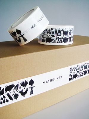 Branded tape is a simple way to extend your brand onto the shipping boxes that usually look like hell—with the labels, etc.