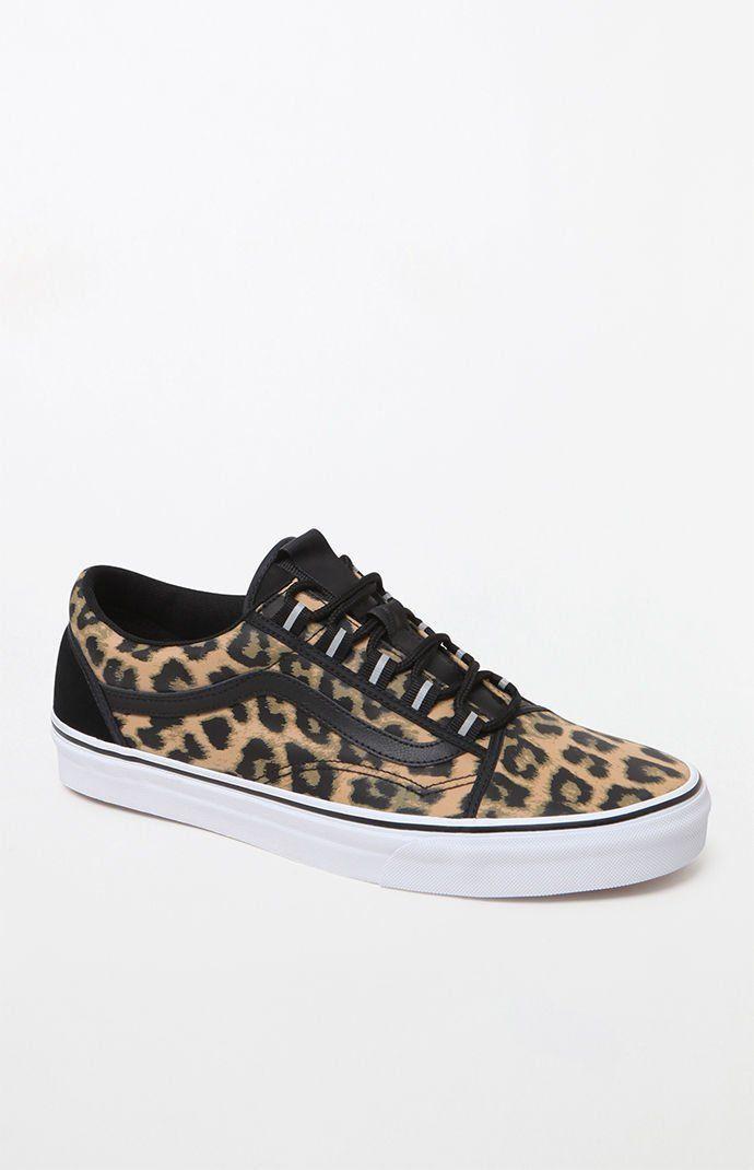 Vans Nylon Old Skool Ghillie Leopard Shoes  f420443dd5