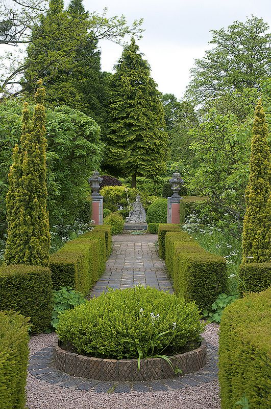 The Laskett, Herefordshire.  Garden designed by Sir Roy Strong & his late wife Julia Trevelyan Oman.  Influenced by Val's garden at Yatton Court.