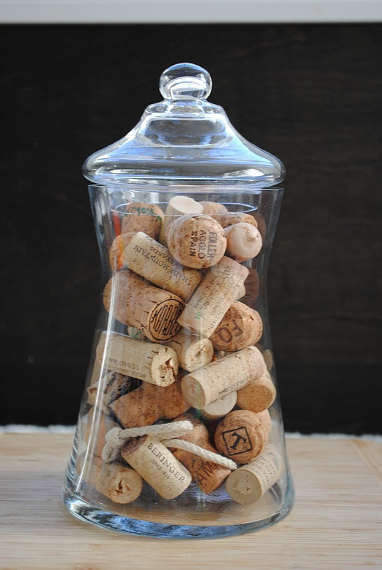 collect corks from special occasions and write the event on the side of the cork; use for crafts, or just as a fun display