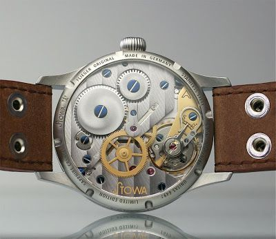 Stowa Flieger Original | The Stowa Enthusiasts.  Using the Unitas 6497 handwound movement with an exhibition back.  Beautifully decorated and rare.