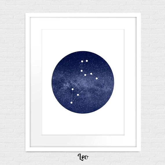 Leo Constellation Art Print